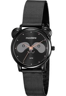 Kit De Relógio Analógico Mondaine Feminino + Pulseira - 53784Lpmvpe2K1 9579278 Preto