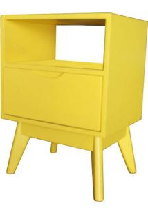 Criado Mudo On Com 1 Gaveta Amarelo - 55954 Sun House