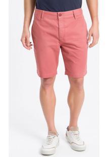 Bermuda Color Chino Curta Sarja Reat - Rosa Claro - 38