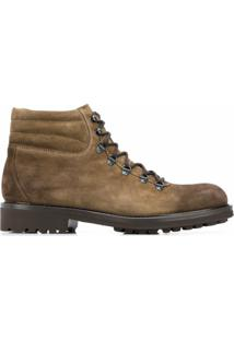 Doucal'S Ankle Lace-Up Boots - Marrom