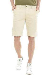 Bermuda Get Fashion Dialogo Jeans Slim Color Masculina - Masculino-Bege
