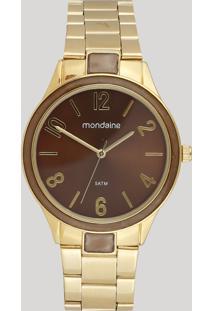 Relógio Analógico Mondaine Feminino - 53624Lpmvde1 Dourado - Único