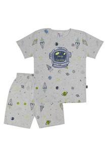 Pijama Meia Malha - 46553-1126 - (1 A 3 Anos) Pijama Rotativo Mescla Banana - Primeiros Passos Menino Meia Malha Ref:46553-1126-3