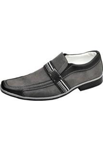 Sapato Social Novo Habito Palmilha Confort Masculino - Masculino-Cinza