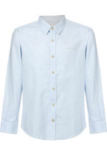 Camisa Ml Ckj Com Silk Logo - Azul Claro - 4