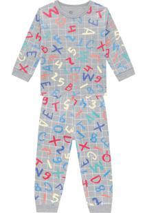 Pijama Infantil Menino Cinza