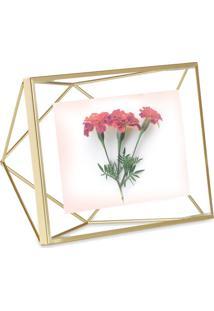 Porta-Retrato Prisma 10X10 Cm Dourado