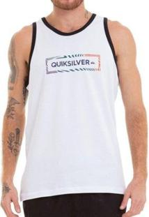 Regata Quiksilver Wise And Vice Masculina - Masculino-Branco