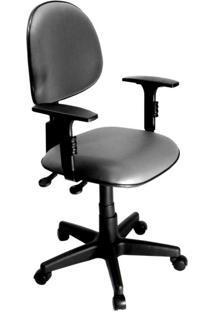 Cadeira De Escritório Secretária Relax Corano Cinza
