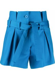The Attico Short Clochard - Azul