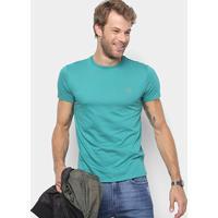 9f4e5703aa768 Camiseta Lacoste Básica Jersey Masculina - Masculino-Verde Claro