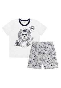 Pijama Infantil Rovitex Leão Branco