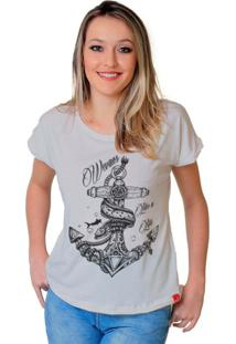 Camiseta Wevans Ancora Tattoo Branca