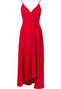 Victoria Beckham Vestido Assimétrico - Vermelho