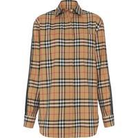 Burberry Camisa Xadrez Com Listras - Amarelo e1ab731cd78f1