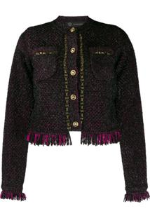 Versace Tweed Jacket - Preto