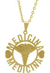 Gargantilha Horus Import Medicina Dourado