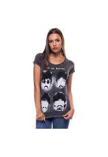 Camiseta Liverpool Estonada Beatles Preto Tam. M