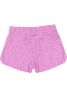 Shorts Infantil Feminino Rosa