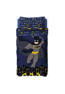 Colcha Infantil Dupla Face Estampa Batman Lepper