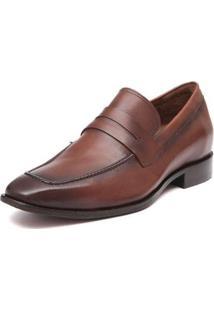 Sapato Social Samello Couro Sentra Masculino - Masculino