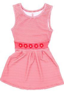 Vestido Cativa Kids Liso Rosa