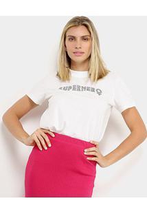 Camiseta Colcci Super Hero Feminina - Feminino