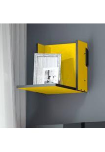 Prateleira Pequena Mov – Be Mobiliário - Amarelo / Carbono