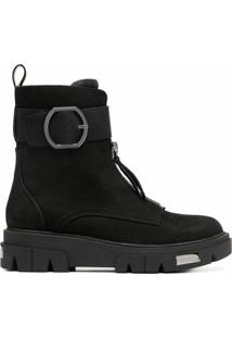 Dkny Ankle Boot Com Detalhe De Fivela - Preto