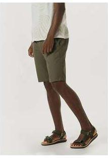 Bermuda Masculina De Algodão Verde