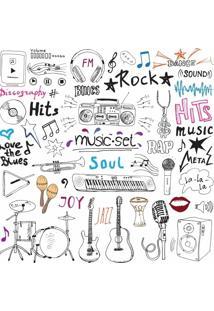 Papel De Parede Adesivo Music