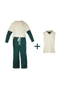 Pijama Gumii Pijama Asbjorn Gumii (Três Peças) Off-White