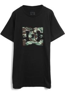 Camiseta Dc Shoes Menino Estampa Preta