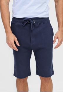 Bermuda Calvin Klein Reta Amarração Azul-Marinho