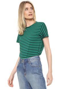 Camiseta Forum Listrada Verde/Azul-Marinho