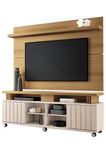 Rack Bancada Com Painel Para Tv Até 70 Pol. Briz H01 Off White/Freijó