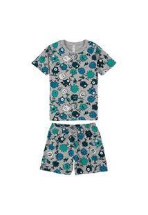 Pijama Malwee 1000077434 Infantil Verde