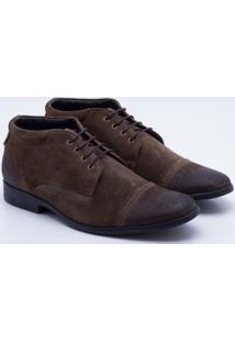 c49e7cc162 Sapato Casual Democrata Trento Couro Masculina - Masculino-Café