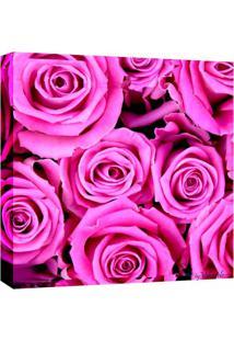 Quadro Impressão Digital Rosas Rosa 30X30Cm Uniart