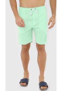 Bermuda ÁGua Quiksilver Reta Solid 18 Verde - Verde - Masculino - Dafiti