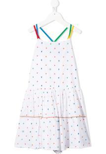 Stella Mccartney Kids Vestido Com Poás - Branco