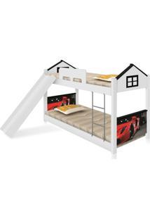 Beliche Baixa Casa Carro Red Com Escorregador Casah - Branco/Preto - Dafiti