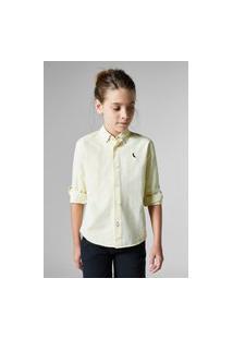 Camisa Mini Pf Regular Oxford Casual Reserva Mini Bege
