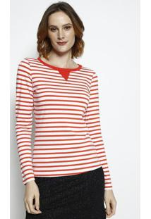Camiseta Listrada- Laranja & Branca- Coca-Colacoca-Cola