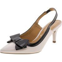 a9764ecc8d Clóvis Calçados. Sapato Feminino Chanel Vizzano - 1185176 Bege/Preto