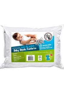 Travesseiro Íons De Prata Baby Lavável - Fibrasca Branco
