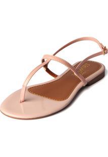 Rasteira Trivalle Shoes Rosê Bebe
