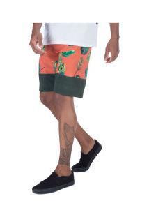 Bermuda Oakley Tropical Midsum - Masculina - Verde Esc/Laranja