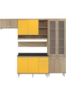 Cozinha Compacta Multimóveis Sicília 5817.132.695.815.610 Argila Amarelo Se