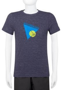 Camiseta Infantil Fila Tri 19 Masculino - Masculino-Azul